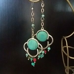Jewelry - Faux Turquoise earrings